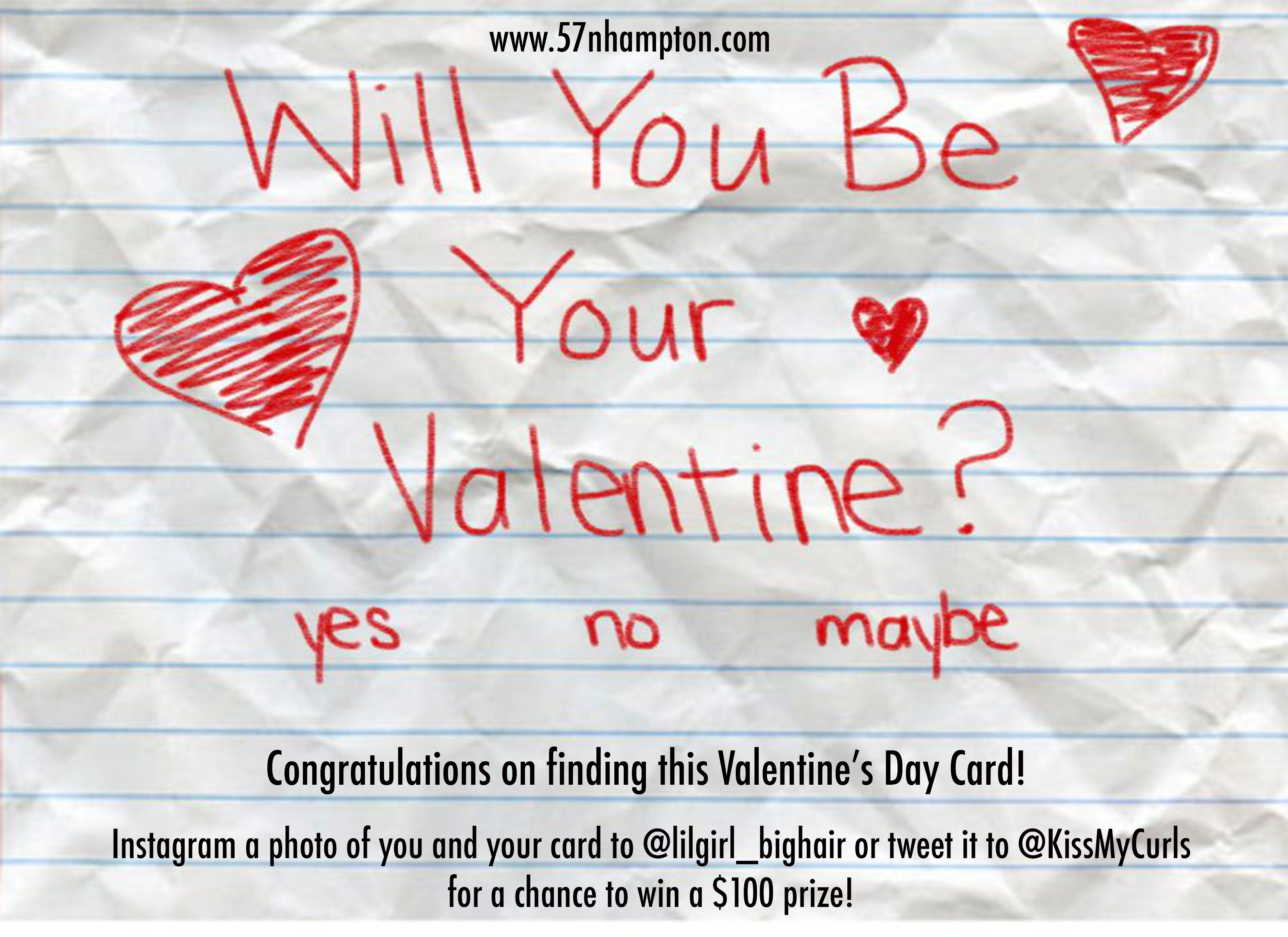 Will you be Your Valentine-V Card